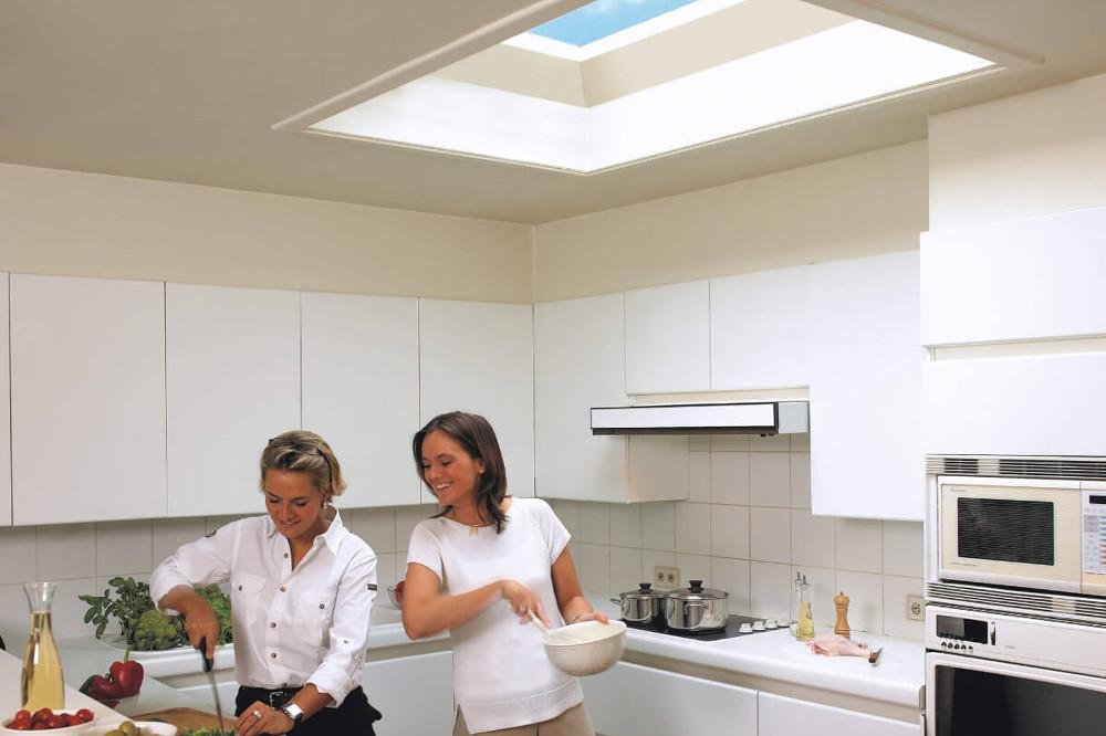 świetlik dachowy kuchnia